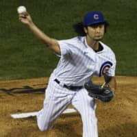 Cubs pitcher Yu Darvish delivers against the Indians on Sept. 15 in Chicago. | AP