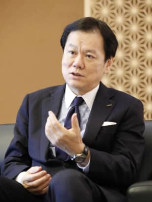 Tatsufumi Sakai, head of Mizuho Financial Group Inc. says the group is seeking to become 'a next-generation financial institution.'  | KYODO