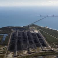 The Abbot Point coal terminal and its deepwater port in Bowen, Australia.  | DAVID MAURICE SMITH/THE NEW YORK TIMES