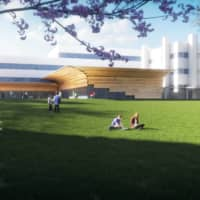 A new building to be completed around August 2022 is scheduled to house laboratories for natural sciences and research offices for humanities and social sciences. |