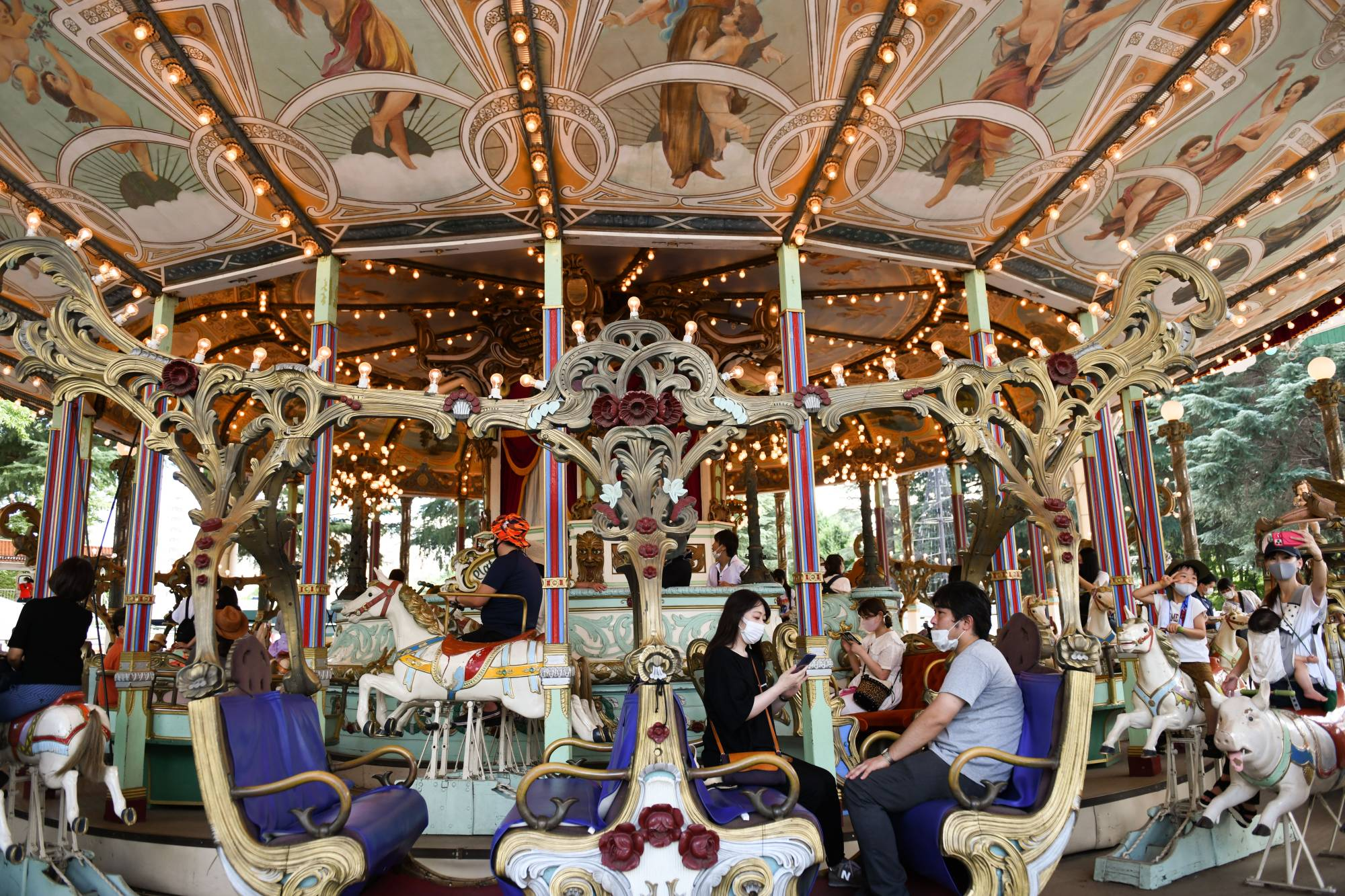 The 113-year-old merry-go-round, which arrived in Tokyo after stints in Germany and Coney Island, is now in storage. | NORIKO HAYASHI / THE NEW YORK TIMES