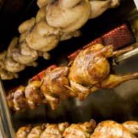 Whole roast: Osso Brasil uses authentic Brazilian ingredients and flavors for its rotisserie chicken.  |  THE OSSO BRAZIL COURT