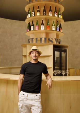 Former soccer star Hidetoshi Nakata is involved in a range of ventures to help sake become a genuinely global product. | MARTIN HOLTKAMP