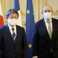 Japan and France agree to cooperate on COVID-19 and maritime security
