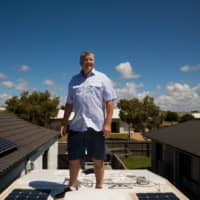 A home with solar panels in Bundaberg, Australia. The country is the world's second-largest exporter of coal, but 1 in 4 Australian homes have rooftop solar panels. | FAYE SAKURA / THE NEW YORK TIMES