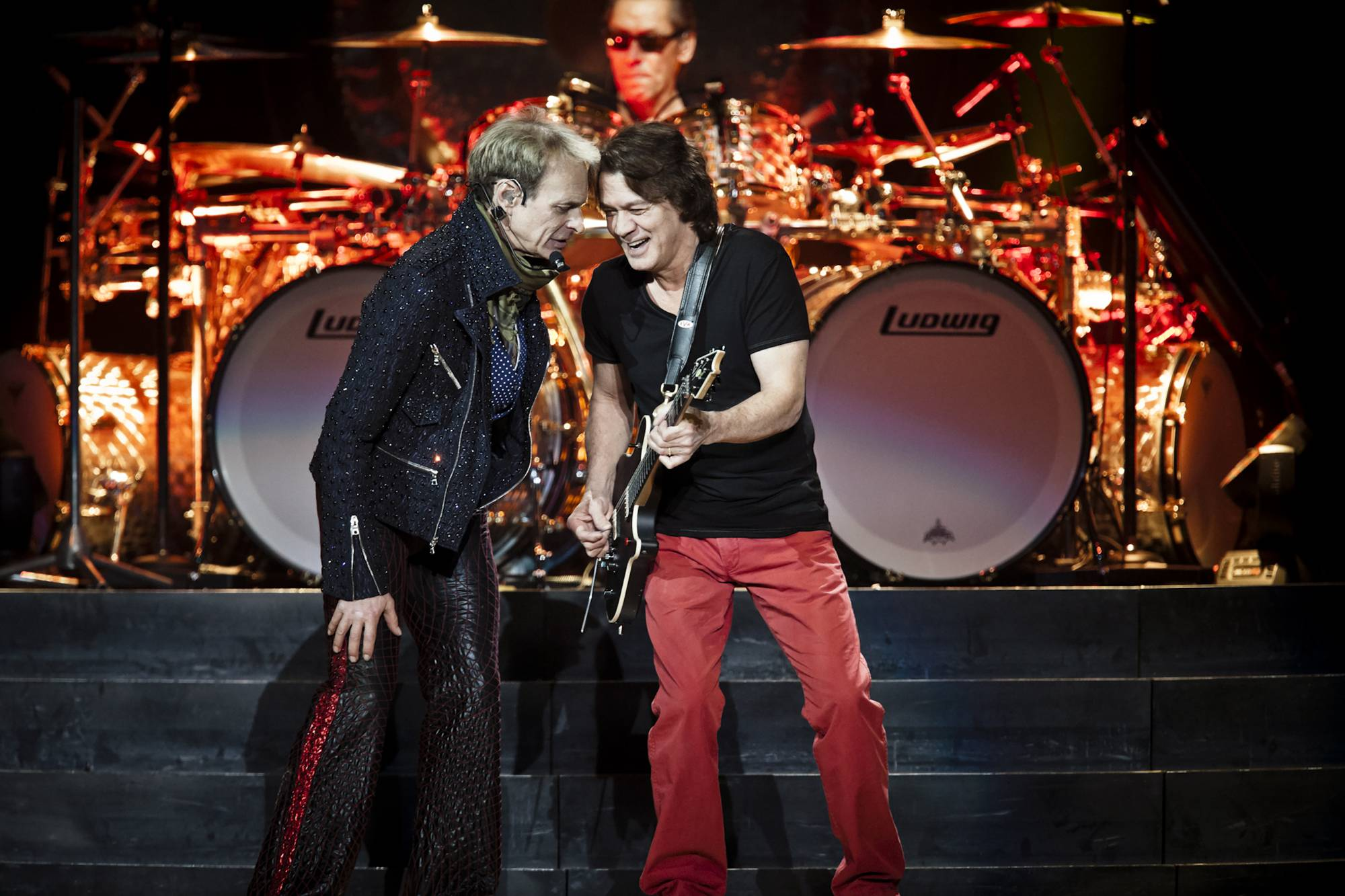 David Lee Roth (left), formerly of the band Van Halen, and Eddie Van Halen perform at Madison Square Garden in 2012. | CHAD BATKA / THE NEW YORK TIMES