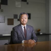Jun Sawada, Nippon Telegraph & Telephone Corp.'s CEO, is interviewed in Tokyo on Tuesday.  | BLOOMBERG