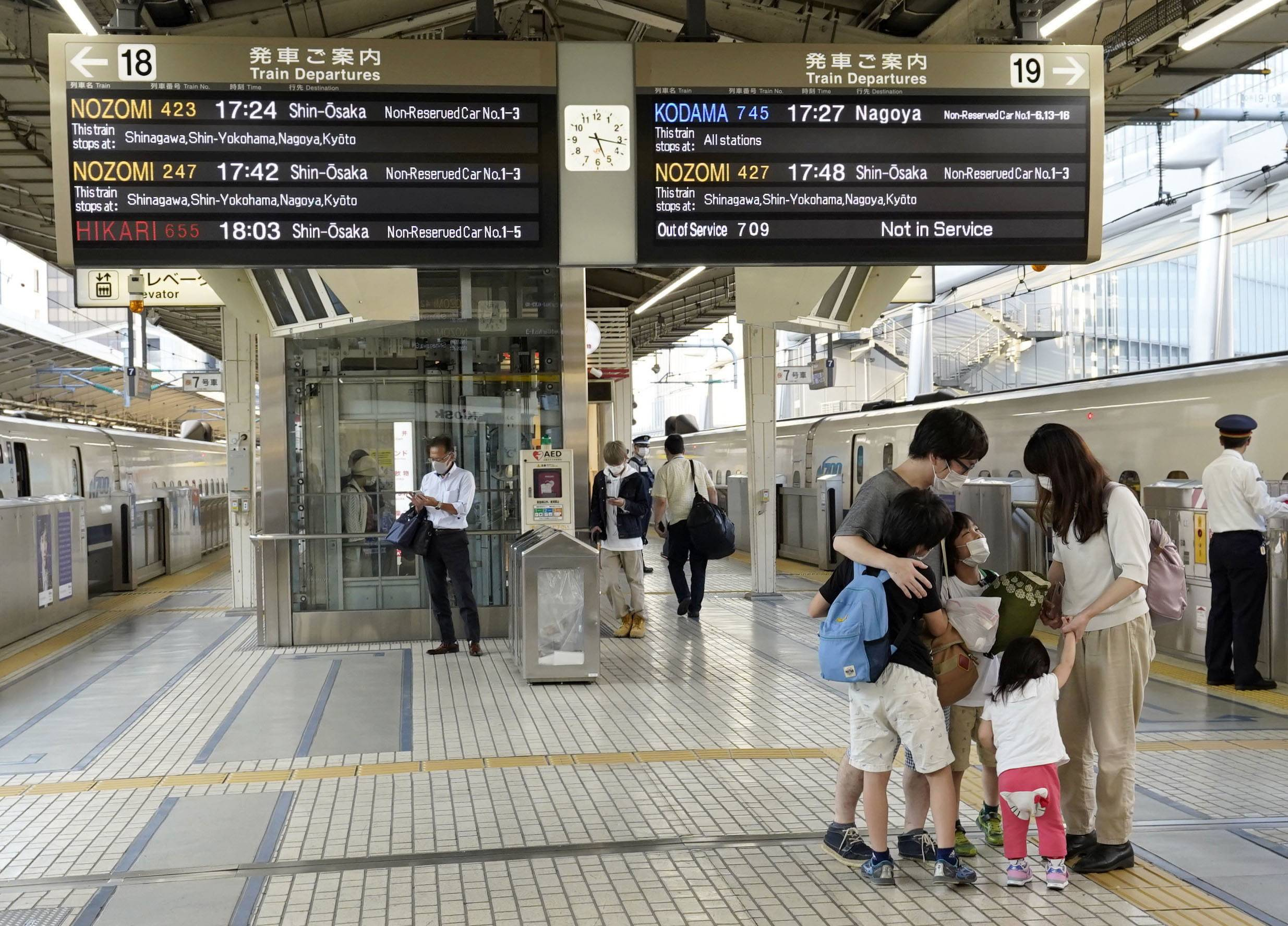 Few people are seen at Tokyo Station during the summer holiday season in August as many local governments asked people not to travel to their hometowns. | KYODO