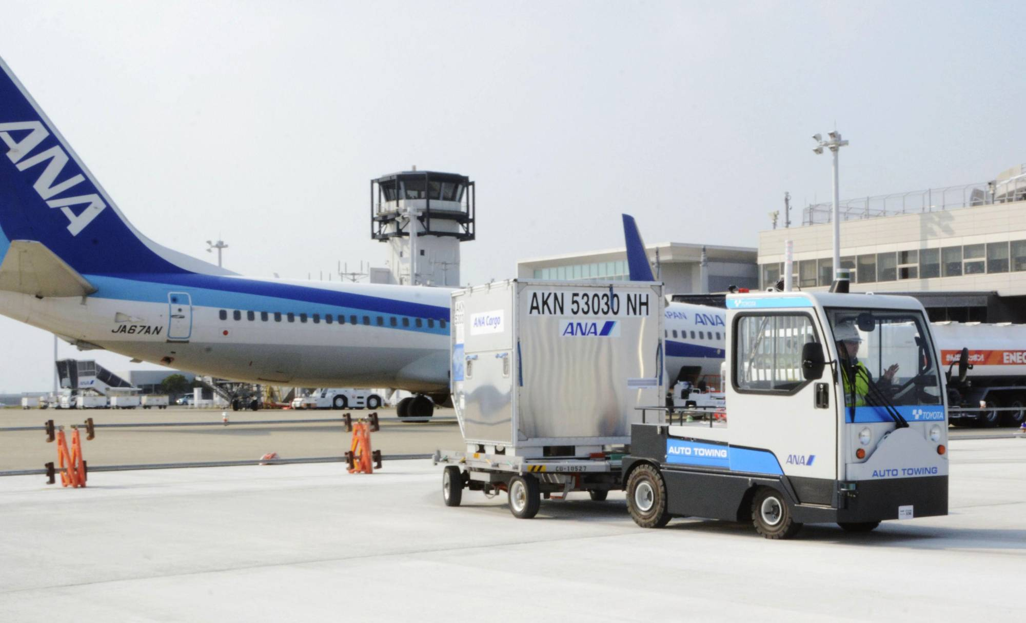 All Nippon Airways Co. plans to cut monthly wages and other benefits by 5% from January at the latest. | KYODO