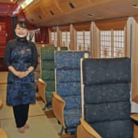 New sightseeing train in Kyushu embarks on maiden journey