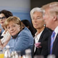 German Chancellor Angela Merkel and U.S. President Donald Trump in 2018. Merkel has not gone out of her way to court the mercurial American leader.   BLOOMBERG