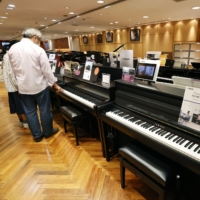 Sales of electric pianos have increased 1.4 times compared with last year, with more people taking up instruments during the coronavirus pandemic. | KYODO