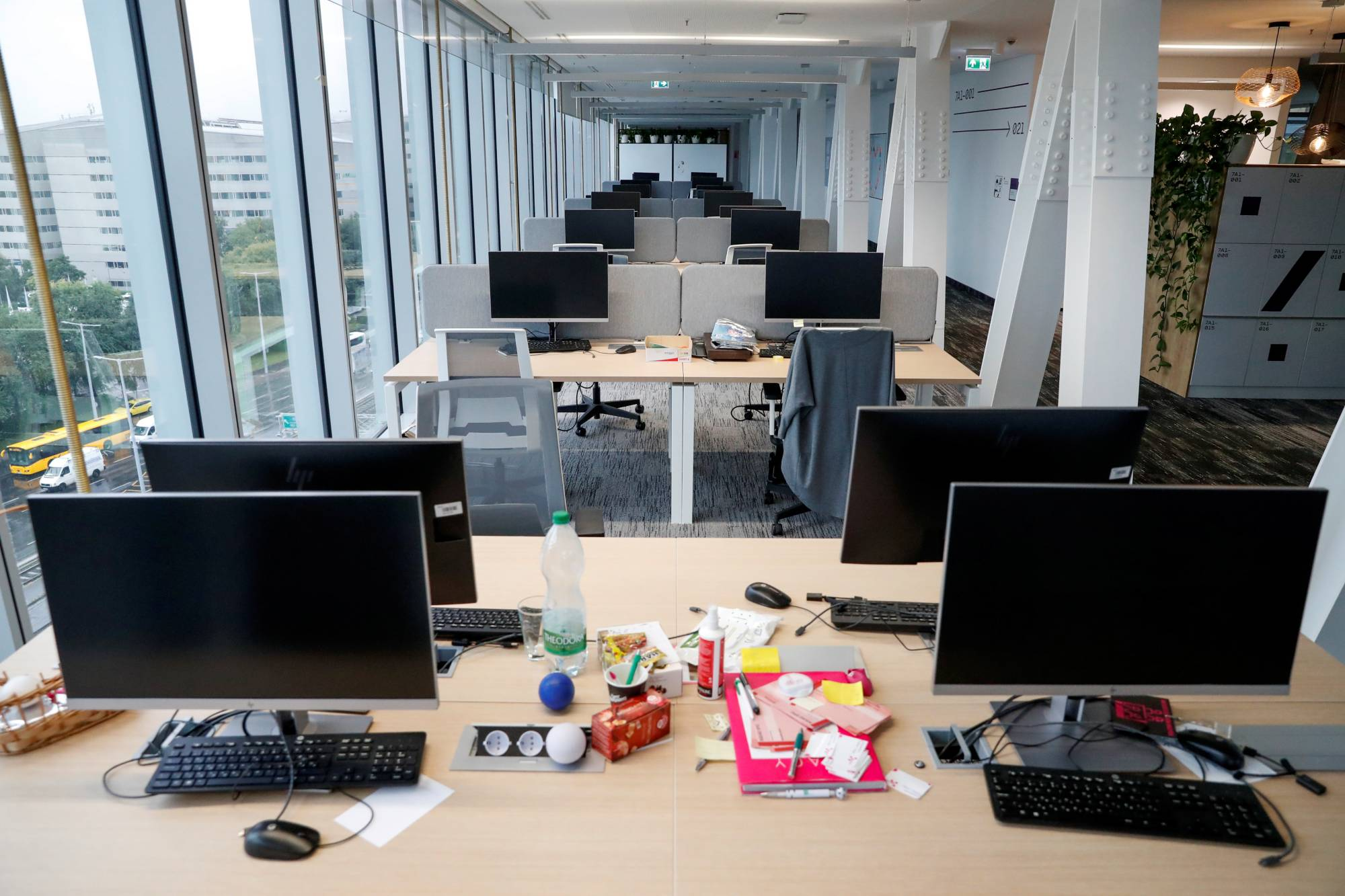 The pace of workers coming back into offices is more of a trickle than a flood, leading to tenants choosing not to renew leases and skyrocketing vacancy rates. | REUTERS