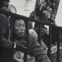 Protesters demonstrate outside of Chisso Corp.'s plant in Goi near Tokyo.   AILEEN MIOKO SMITH