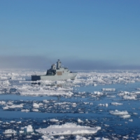 A Danish patrol vessel sails in northern Canada in 2009. | LARS BOGH VINTHER / DANISH ARMED FORCES / VIA REUTERS