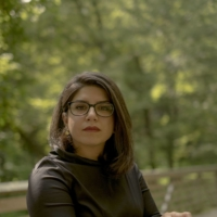 Sara Omatali, an Iranian journalist now living in the United States, at home in Derwood, Maryland, on Sept. 2. Omatali says the acclaimed artist Aydin Aghdashloo sexually assaulted her in 2006 when she visited to interview him. The artist strenuously denies wrongdoing. | GABRIELLA DEMCZUK / THE NEW YORK TIMES