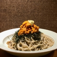 Seafood specialty: Osoba no Kouga's signature uni (sea urchin) soba is only on the menu when the Toyosu market can supply the highest quality.  | ROBBIE SWINNERTON