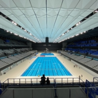 Tokyo unveils cutting-edge Olympic swimming venue