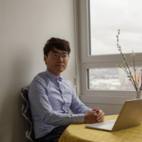 Simon Cheng, a former employee of the British Consulate in Hong Kong, at his home in London | CONOR O'LEARY / THE NEW YORK TIMES