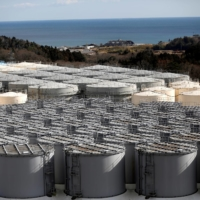 Storage tanks holding water contaminated with radioactive tritium at the Fukushima No. 1 nuclear power plant in 2019 | REUTERS