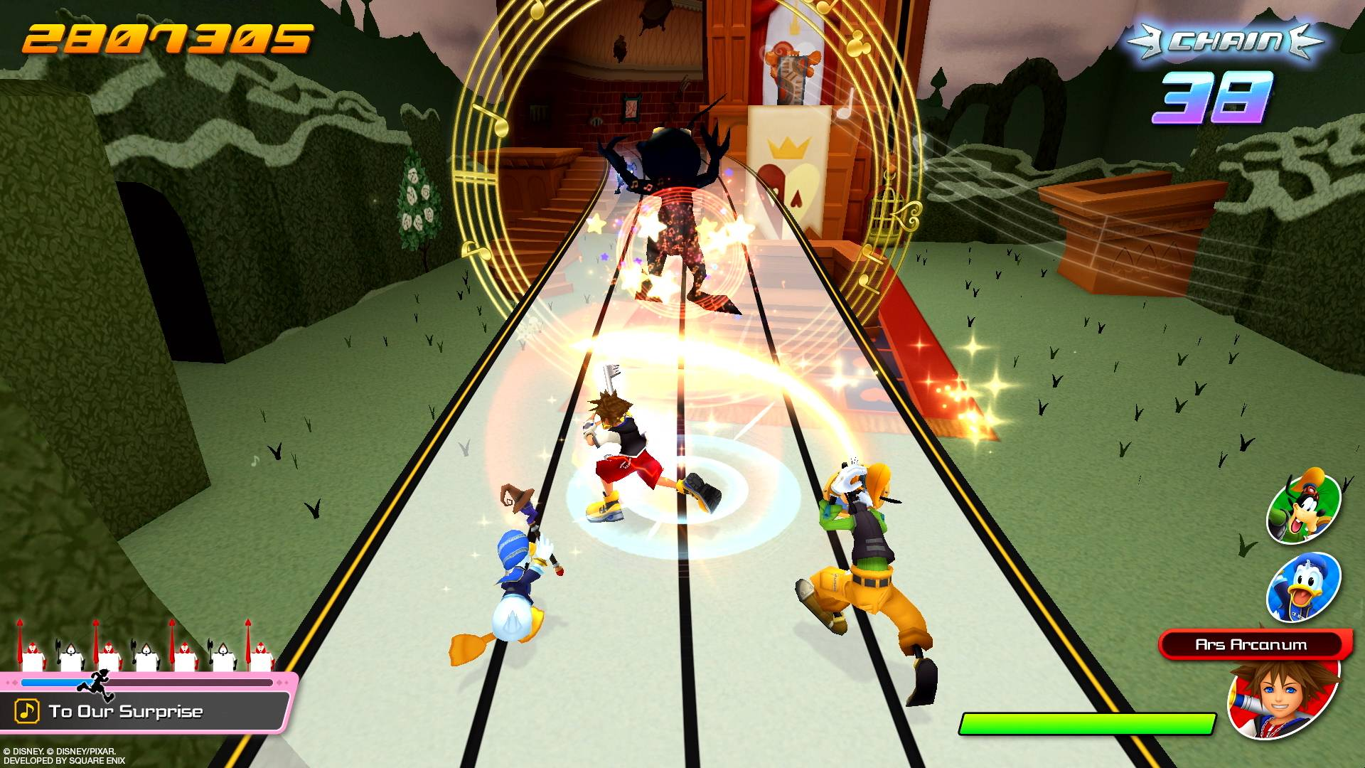 A screenshot from the new Kingdom Hearts: Melody of Memory game   © DISNEY. © DISNEY / PIXAR. DEVELOPED BY SQUARE ENIX