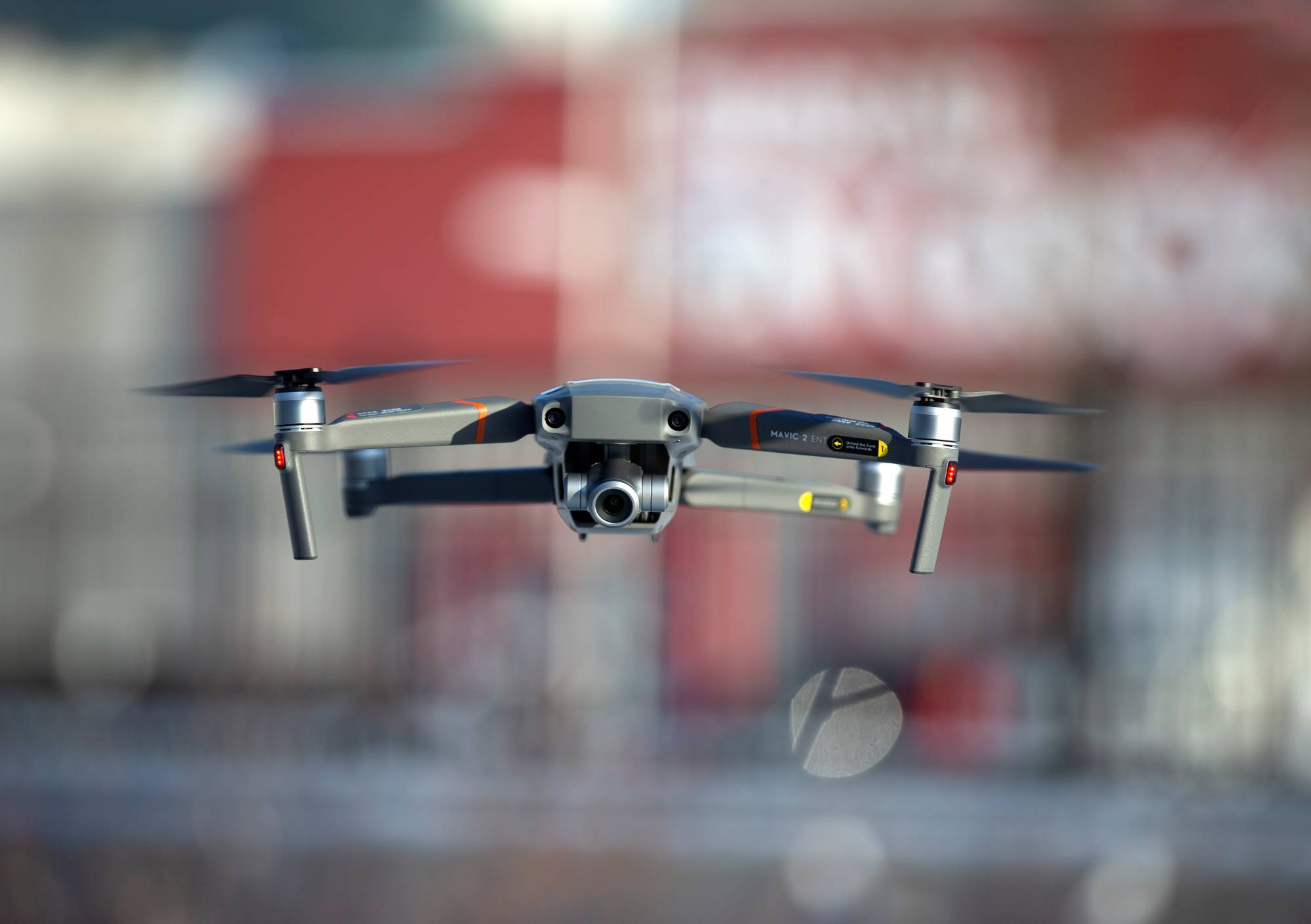 A drone flies as Chinese firm DJI demonstrates their app that tracks a drone's registration and owner in Montreal, Canada, in November 2019. | REUTERS