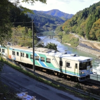 The Abukuma Express Line resumes full operations on Saturday, about a year after it was hit by landslides triggered by Typhoon Hagibis. | KYODO