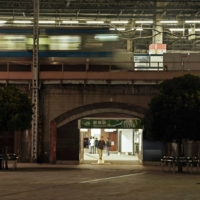 Shimbashi Station in Tokyo looks deserted around midnight on Oct. 21.  | KYODO