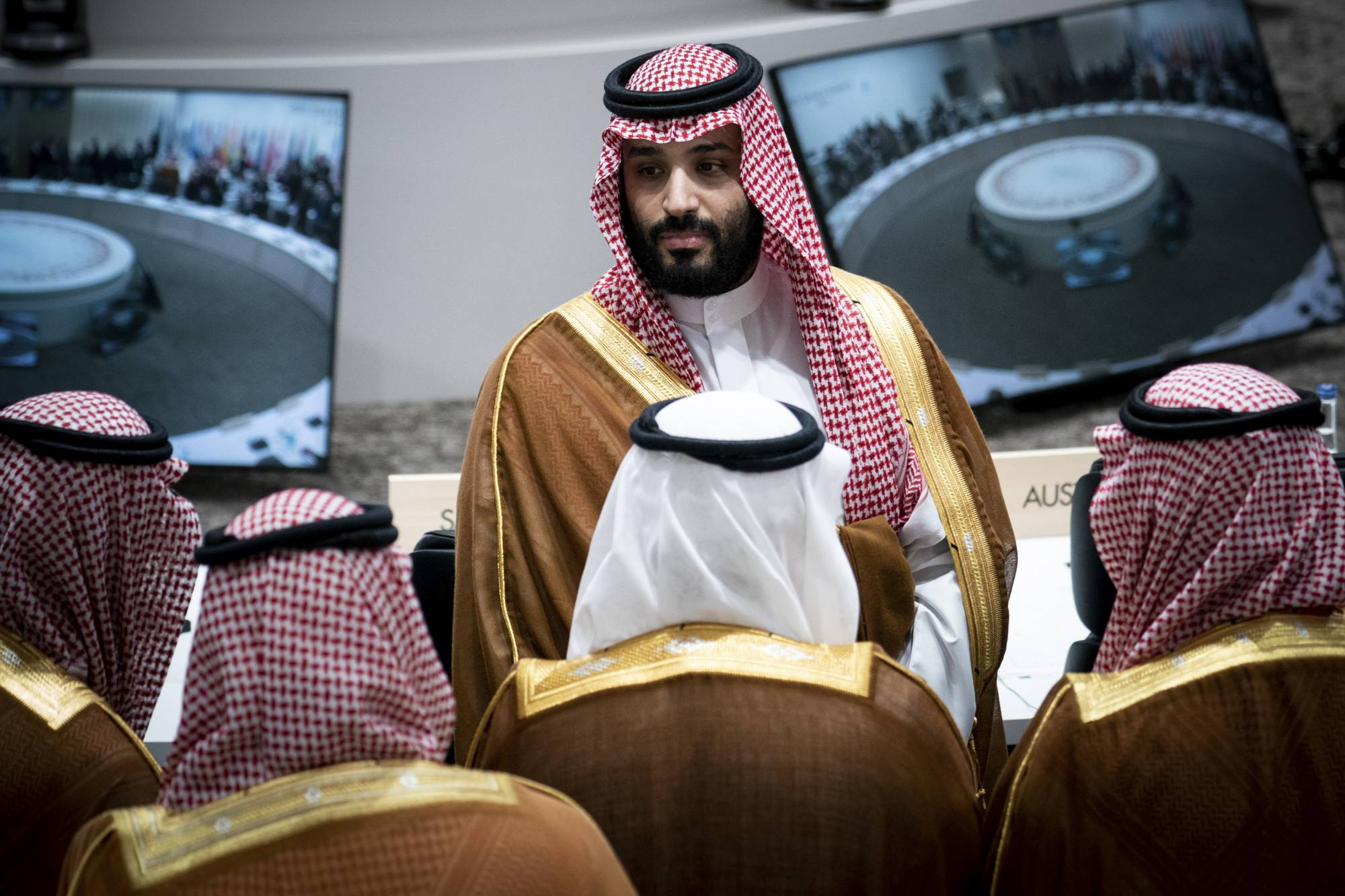 Crown Prince Mohammed bin Salman of Saudi Arabia at the G20 in Osaka in June 2019. Saudi Arabia has stepped up arrests under a loosely worded cybercrime law | ERIN SCHAFF / THE NEW YORK TIMES