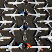 Grounded Boeing 737 Max aircraft in Seattle in July last year.  | REUTERS