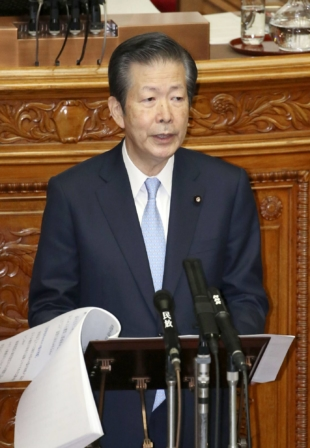 Natsuo Yamaguchi, leader of Komeito, the junior partner in the ruling coalition led by the Liberal Democratic Party | KYODO