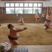 Sumo stables housed in older structures becoming rare sight