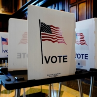 On Tuesday morning, Republicans invoked Bush v. Gore in Montgomery County in Pennsylvania, challenging a county's process for dealing with certain absentee ballots.  | REUTERS