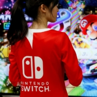 Nintendo Co. reported its operating profit for April-September surged thanks to robust demand for its Switch game console. | REUTERS