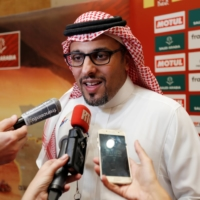 Saudi Arabian Motor Federation President Prince Khalid bin Sultan Al-Faisal Al-Saud, seen speaking ahead of the Dakar Rally in Jeddah, Saudi Arabia, on Jan. 3, says a Formula One race next year in the same city will be 'the biggest sports event hosted in our country's history.' | REUTERS