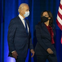 Democratic U.S. presidential candidate and former Vice President Joe Biden and his running mate Sen. Kamala Harris on Friday | AP