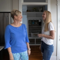 Joe Biden supporters Denise Armistead Auton, 46, and her daughter Hannah, 13, are at odds over politics with Denise's husband, Jeff. | REUTERS