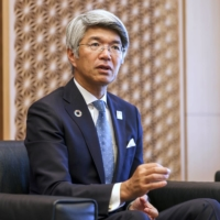 Koji Fujiwara, president and chief executive officer of Mizuho Bank, says the bank will start selling information on consumers' spending habits during an interview in Tokyo. | BLOOMBERG