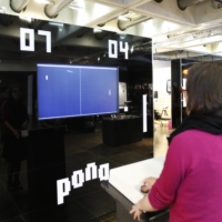 Preliminary round: Two people play the retro video game Pong, one of the first video games released by Atari in the 1970s, at the video game museum in Paris. | AFP-JIJI