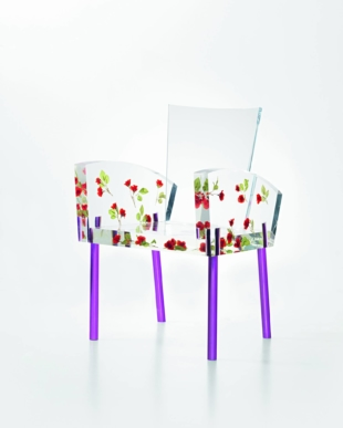 Scene-stealer: The Miss Blanche chair, inspired by the character Blanche DuBois from Tennessee Williams' play 'A Streetcar Named Desire,' was designed by Shiro Kuramata in 1988.