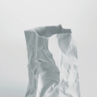 Bag of tricks: Ceramic Japan Co.'s Crinkle series Super Bag, a flower vase designed by Makoto Komatsu, is one of the items featured in Naomi Pollock's book, 'Japanese Design Since 1945.'  |