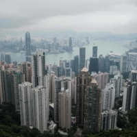A general view of Hong Kong. Tokyo is on a charm offensive to lure firms in Hong Kong, but the city is proving to be a hard sell. | AFP-JIJI