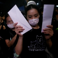 Thai women use pro-democracy protests to challenge sexism