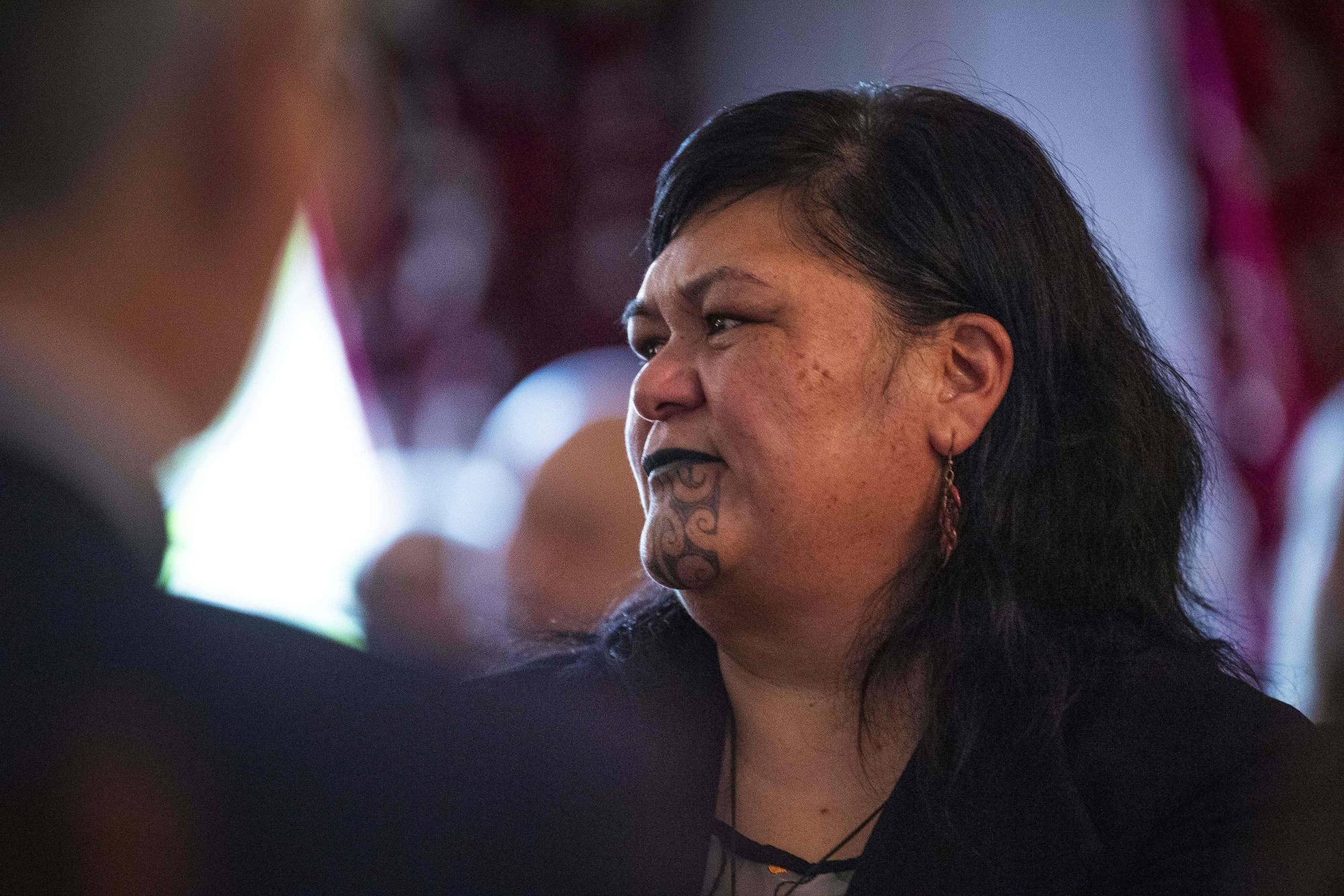 New Zealand's Foreign Minister Nanaia Mahuta attends a Cabinet meeting at Parliament House in Wellington on Nov. 6.   AFP-JIJI