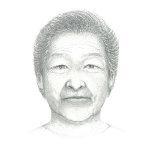 The portrait of Kiu Abe drawn by Shuichi Abe | KAHOKU SHIMPO
