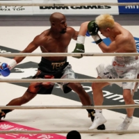 Floyd Mayweather fights Tenshin Nasukawa at Saitama Super Arena on Dec. 31, 2018. | REUTERS