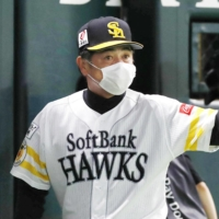 SoftBank manager Kimiyasu Kudo said the team would do 'everything we can' to win their fourth straight Japan Series. | KYODO