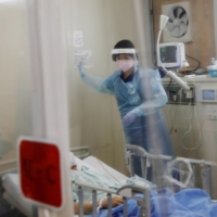 Health ministry data has shown the occupancy rate for hospital beds for seriously ill patients as of Wednesday last week rose in 17 of Japan's 47 prefectures from a week before. | REUTERS