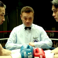 Fight for their lives: Mirai Moriyama (left) and Takumi Kitamura's characters face off in a brutal boxing match in a quest for redemption. | © 2020 UNDERDOG FILM PARTNERS