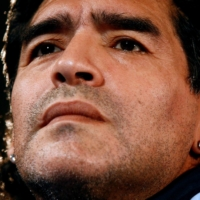 Maradona, then the coach of Argentina's team, gives a news conference in Marseille, France, in February  2009.  | REUTERS